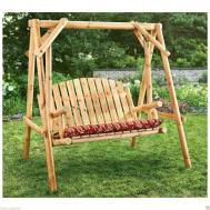 Wooden Patio Swings Modern Outdoor