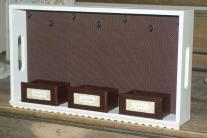 Wooden Trays Hanging Jewelry Organizers Time