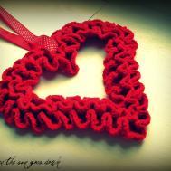 Would Like Yarn Crochet Ruffle Valentine