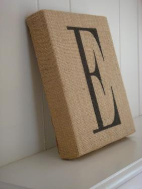 Wrap Canvas Burlap Stencil Letter Fabric Paint