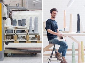 Xavier Osa Fang Collection Peculiar Porcelain Table