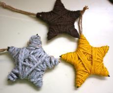 Yarn Wrapped Stars Fun Family Crafts