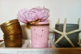 Young Beauty Lifestyle Painted Mason Jar Diy