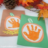 Your Little Pumpkin Handprint Card Kids Make