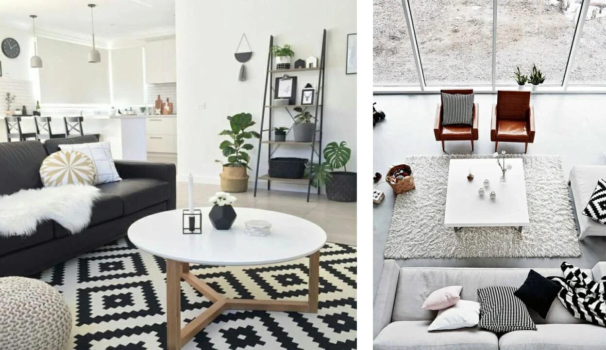 Living Room Black And White Decor Novocom Top