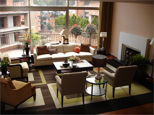 Geometric Rug Contemporary Living Room Hgtv
