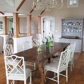 Trestle Dining Table Transitional Dining Room Katie