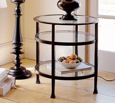 Pottery Barn Tanner Round Side Table