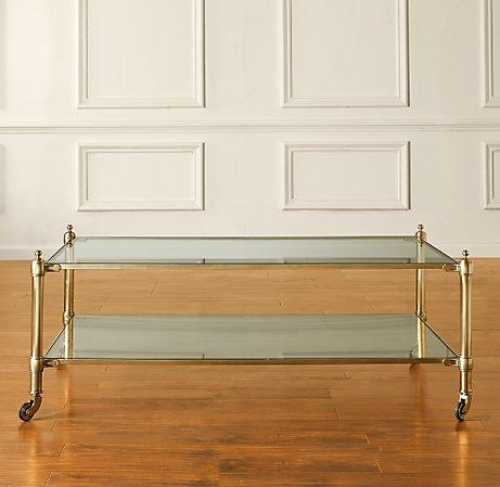 whitney glass coffee table
