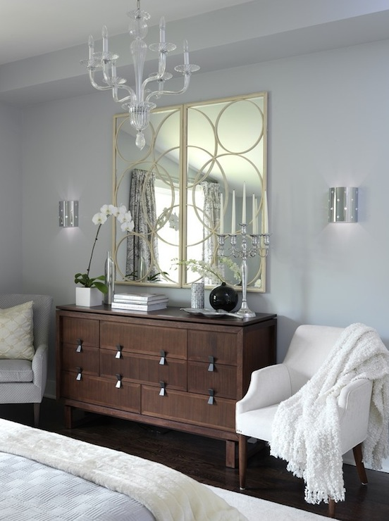 Gray Walls Contemporary Bedroom ICI Dulux Universal