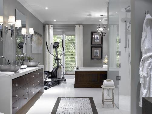 Gray Bathroom -Contemporary