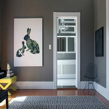Gray Walls Contemporary Living Room Behr Squirrel