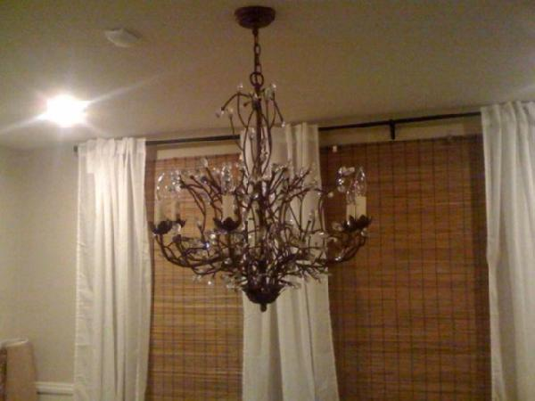 Pottery Barn Wine Bottle Chandelier Project By Brandon And Caitlin