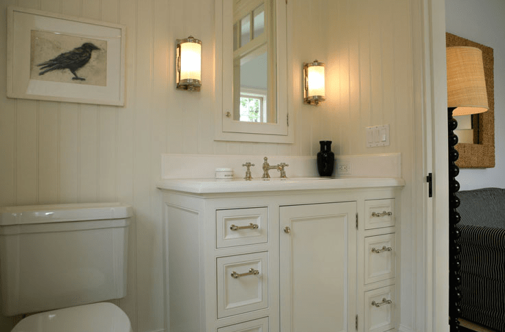 Off White Bathroom Cabinets Cottage Bathroom