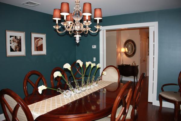 Dining Room Benjamin Moore Yorktowne Green With Modern