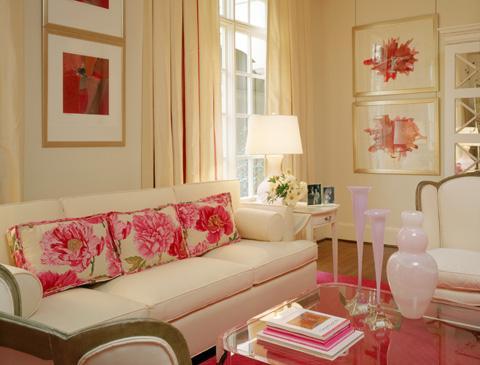 Cream Sofa Contemporary Living Room