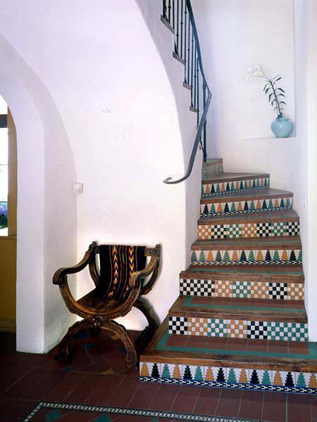 Spanish Tiles Transitional Kitchen Tom Scheerer