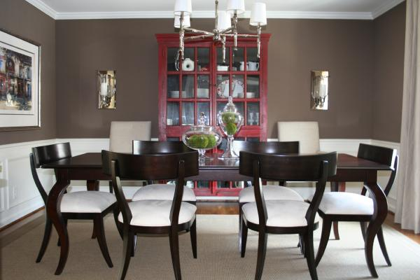 Chairs Dining Chocolate Room Brown