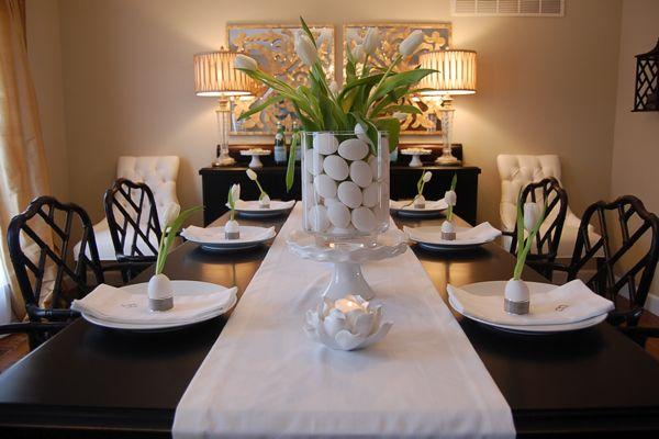 Easter Table Ideas Asian Dining Room Benjamin Moore