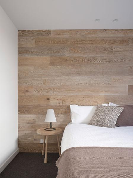 Wood Accent Wall Modern Bedroom