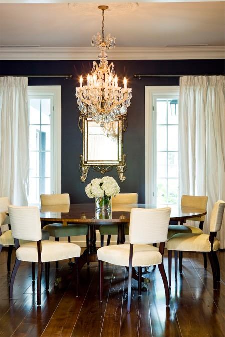 Round Dining Room Table Transitional Dining Room Murakami Design