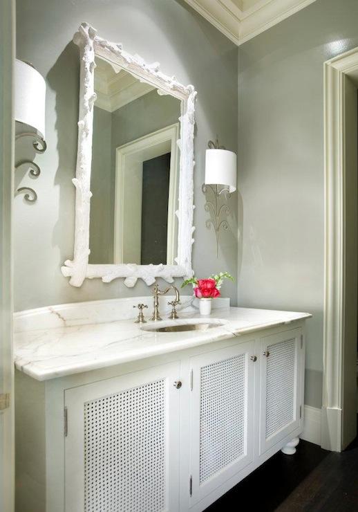 grey and white bathroom - contemporary - bathroom - melanie turner