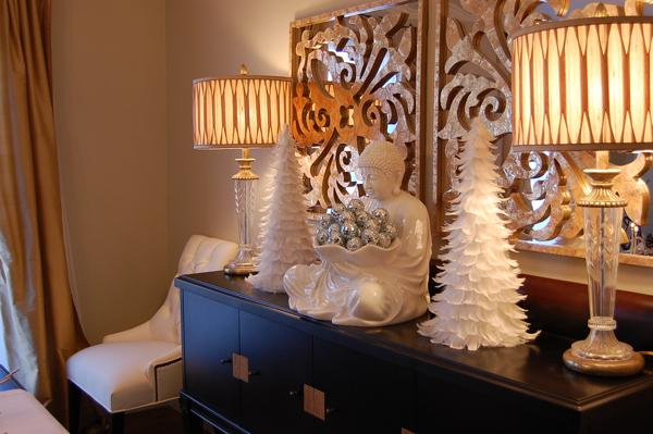 White Feather Tree Asian Dining Room Benjamin Moore