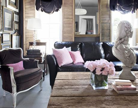 Living Room Design With White Sectional
