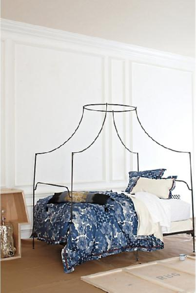 Anthropologie Italian Campaign Canopy Bed Look 4 Less