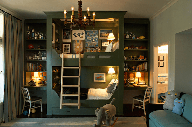 Built In Bunk Beds Traditional Boys Room Hutker Architects