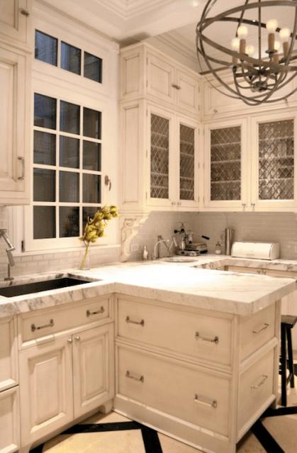 Suzie:  Kitchen Lab  beautiful white kitchen design with creamy white kitchen cabinets, calcutta ...