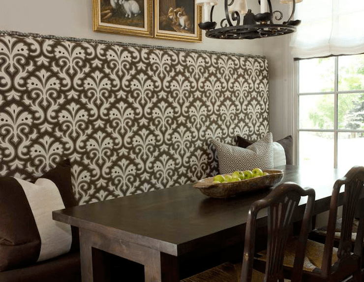 Dining room table with banquette. dining room inspiring dining ...