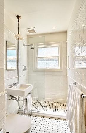 Subway Tile Shower Traditional Bathroom Bosworth