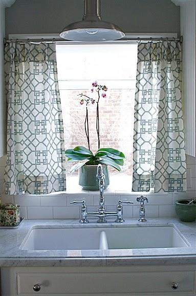 Kitchen Cafe Curtains Transitional Kitchen Caitlin Creer Interiors