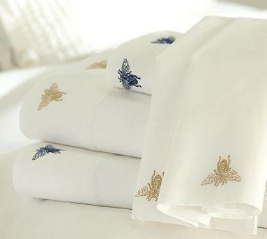 Bee Embroidered Sheet Set Pottery Barn