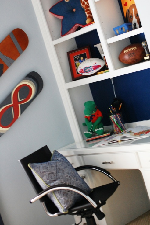Skateboards On Walls Contemporary Boy S Room Charm