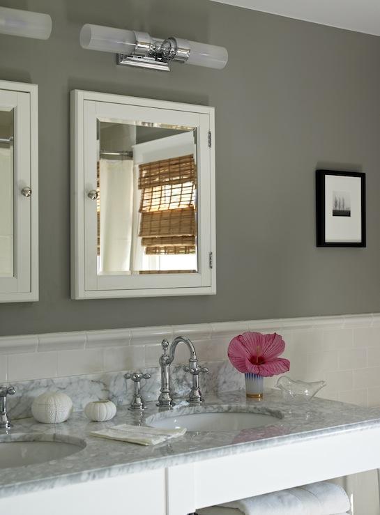 Gray Bathroom Vanity Cottage Bathroom Wick Design