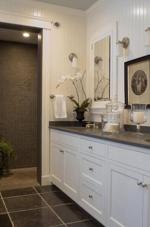 Beadboard Backsplash Transitional Bathroom McCoppin