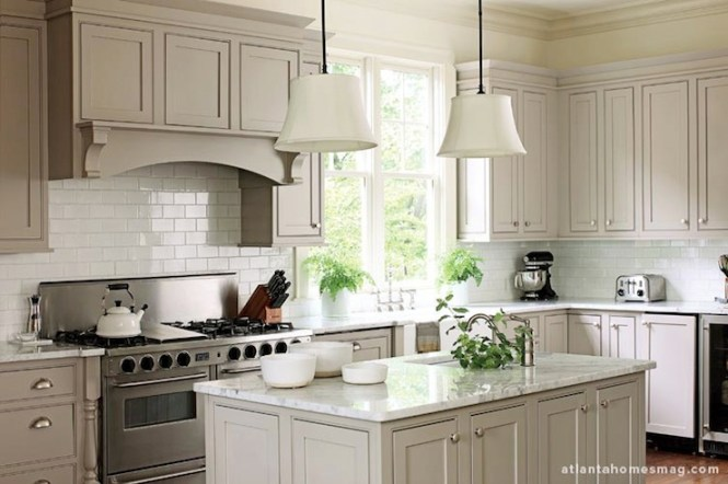 Gray Kitchen Cabinets - Kitchen Cabinets Atlanta - Kitchen Design