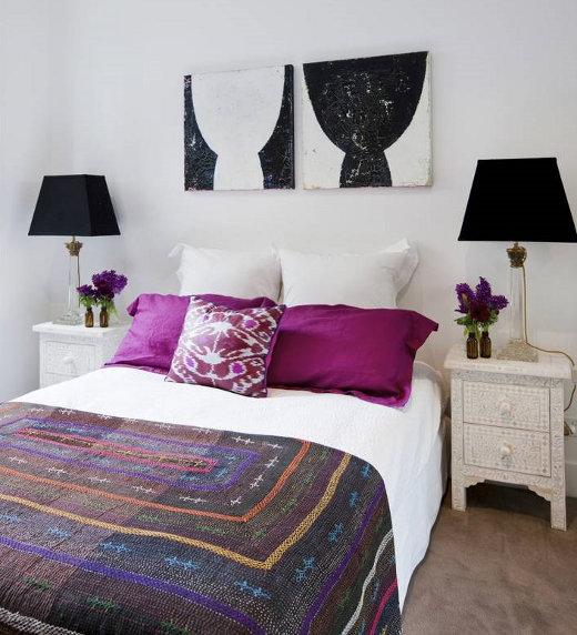 Magenta Bench Transitional Bedroom Kemble Interiors