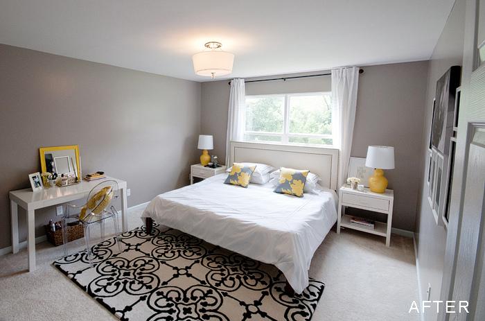 Gray Walls Contemporary Bedroom Benjamin Moore