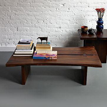 raw edge coffee table west elm