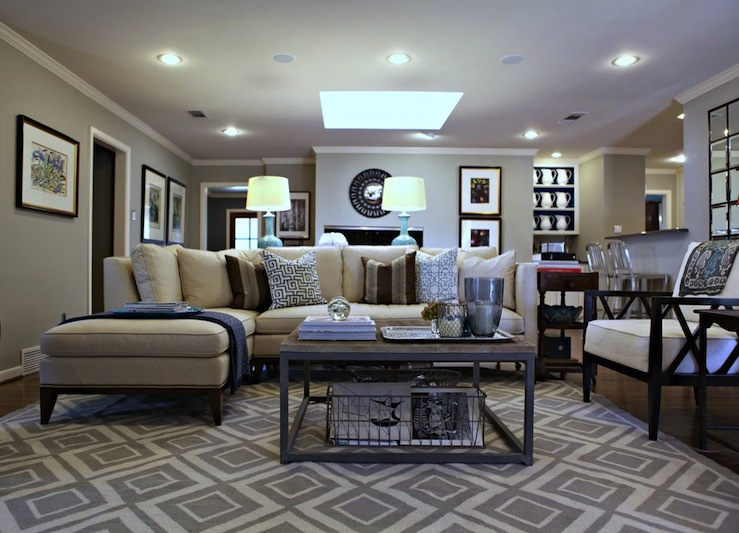 Diamonds Rug Transitional Living Room Benjamin Moore