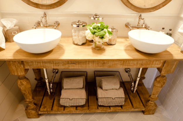 salvaged wood bathroom vanity design ideas
