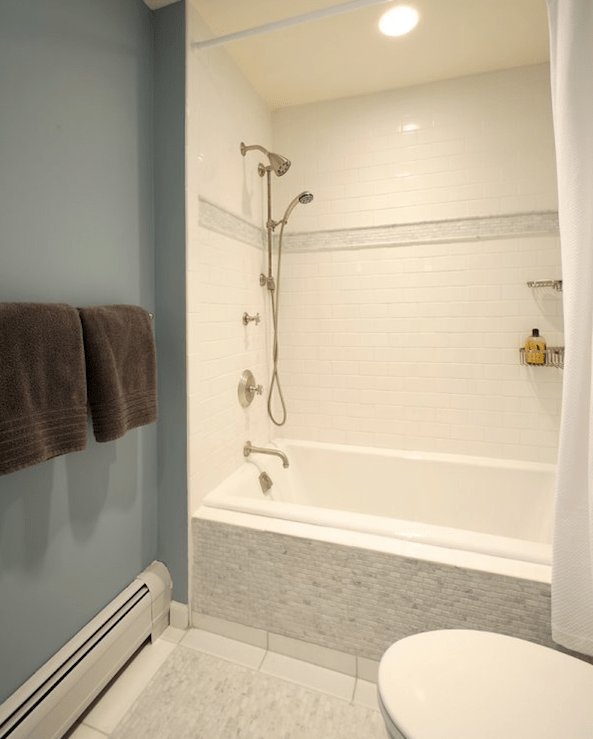 Drop In Shower Ideas Transitional Bathroom Olga Adler Interiors