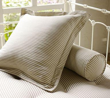Ticking Stripe Pillow Cover Euro Brownstone Pottery Barn