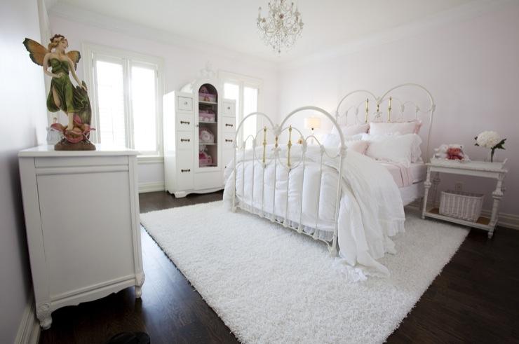 white iron bed - traditional - girl's room - jennifer backstein