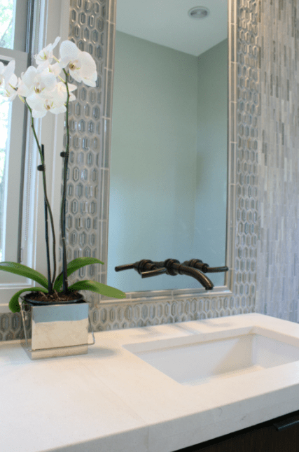 Oil Rubbed Bronze Faucet Contemporary Bathroom