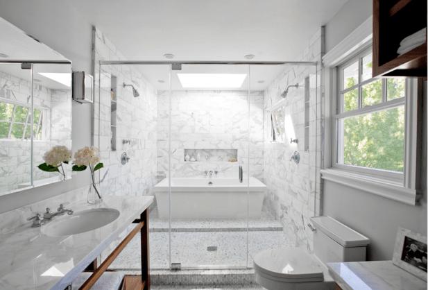Master Bath Shower Designs Contemporary Bathroom
