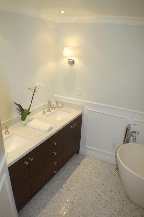 Walnut Bathroom Vanity Transitional Bathroom Life
